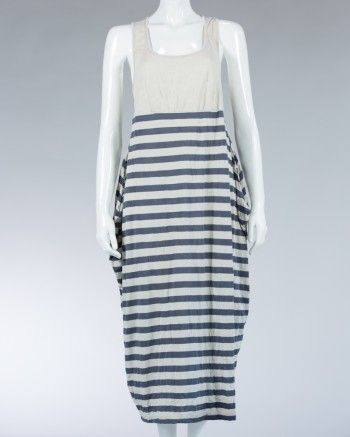Animale ladies long dress striped motif - Biege #WomenDress #Dress #SummerDress #Animale #WomenWear #WomenFashion #MotifDress #LightDress