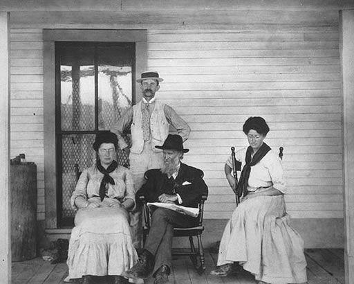 John Muir and his daughters