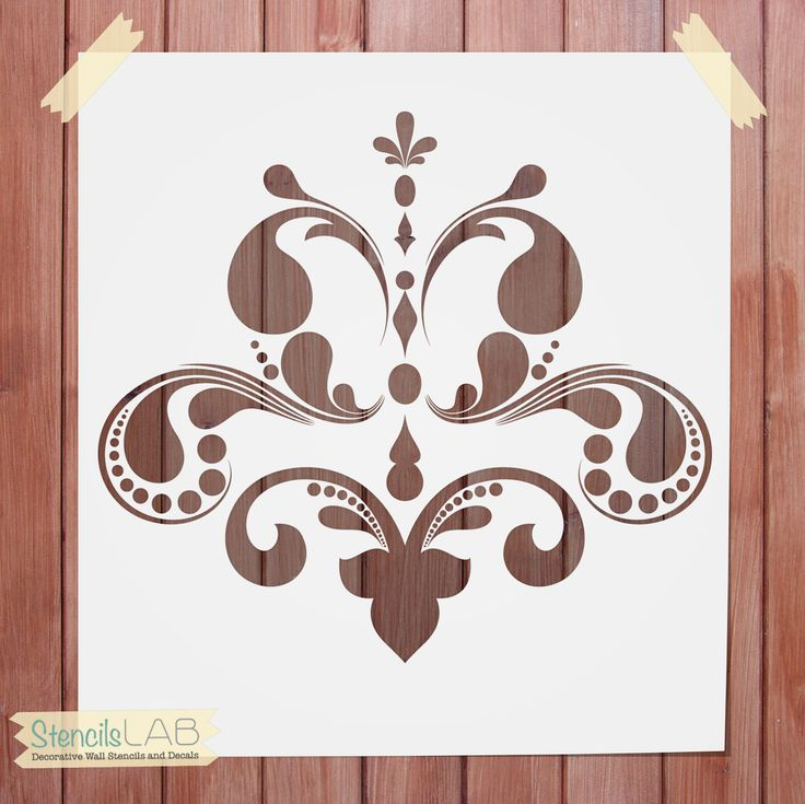 Decorative Wall Stencil - Damask Stencil For Wall Decor ...