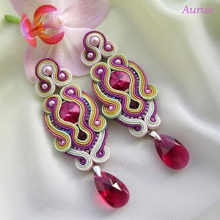 #Soutach, #Earings, #Jewelry