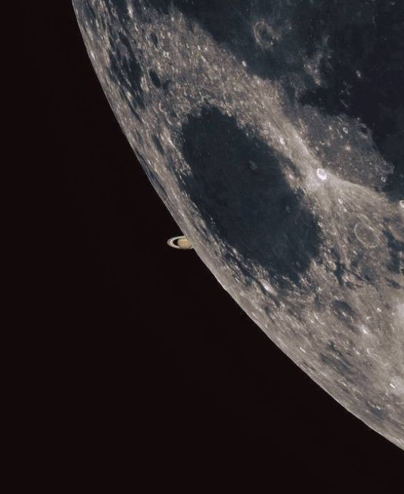 the-wolf-and-moon:  Saturn and Luna