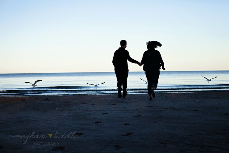 Engagement beach session.  Meghan Liddle Photography