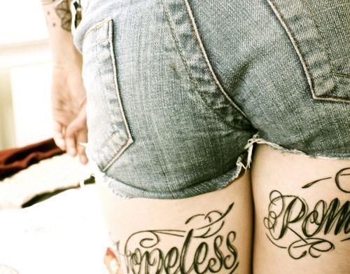hoffnungslos romantische Tattoo Designs