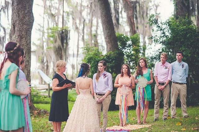 We've shared lots of advice for writing vows, but our last huge roundup of vow examples was a long time ago ... so we worked with readers to gather our favorite wedding vow scripts and examples from their weddings this summer.