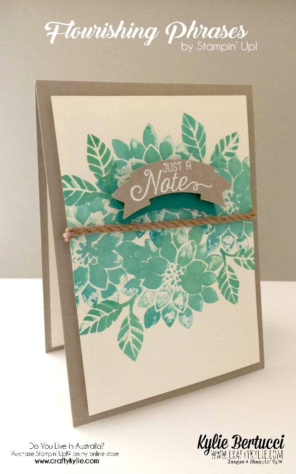 Stampin' Up! Australia: Kylie Bertucci Independent Demonstrator: Crazy Crafters Blog Hop with Special Guest Dawn Olchefske