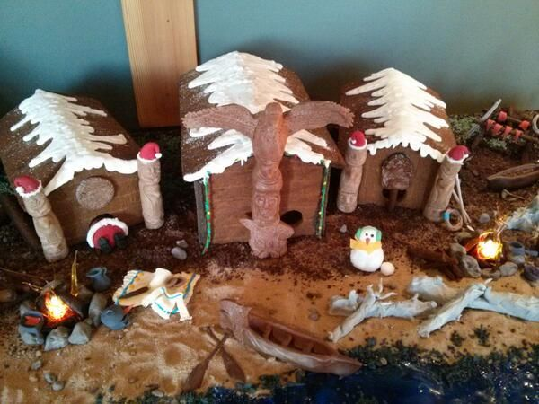 Christmas at the Wickaninnish Inn! This years West Coast inspired gingerbread house by our Pastry Team! www.wickinn.com