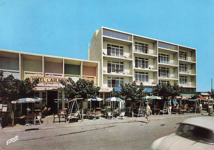 Narbonne, quartier de Narbonne-plage.Hôtel l'Arlequin.