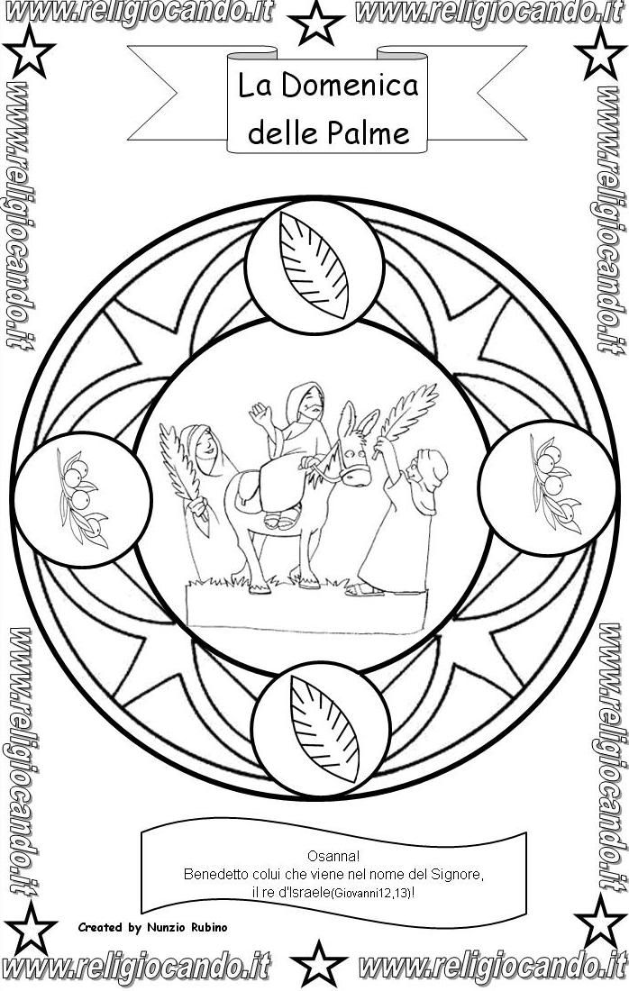 Domenica delle palme religiocando attivit per bambini - Arte celtica colorare le pagine da colorare ...