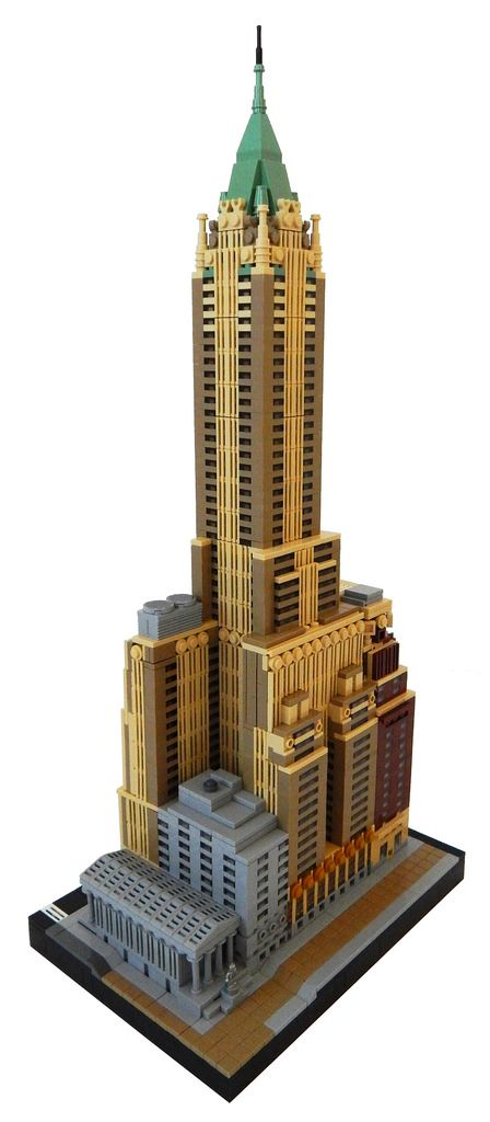 40 Wall St built with LEGO trumps the real thing | Awesome ...