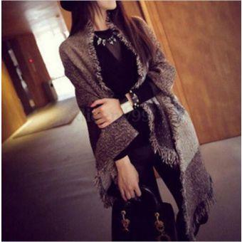 Grueso de la púrpura de invierno de las nuevas mujeres de lana caliente de la estola de Pashmina de la cachemira de las bufandas del mantón Wraps