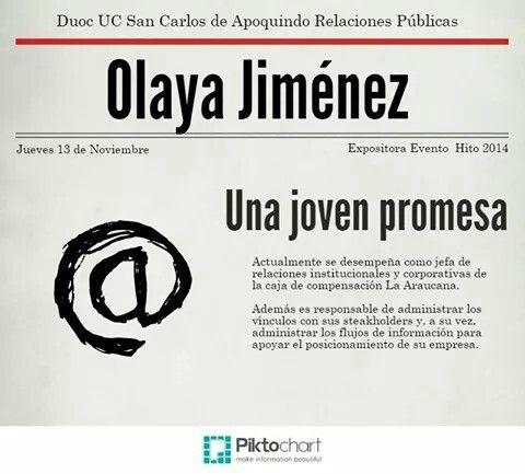 Conoce mas de Olaya Jimenez en conect@dos 2014