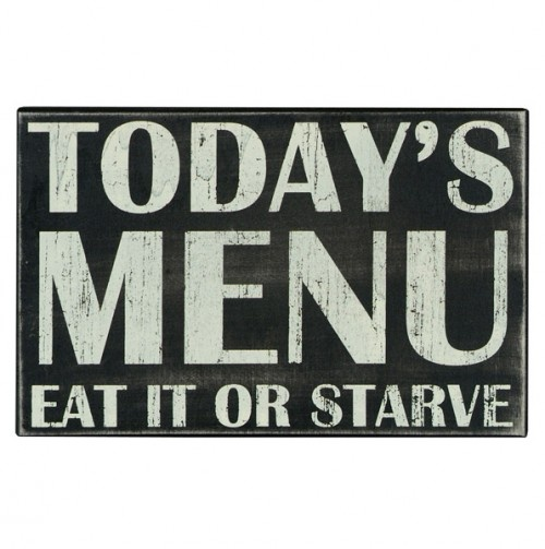 Today's Menu Box sign