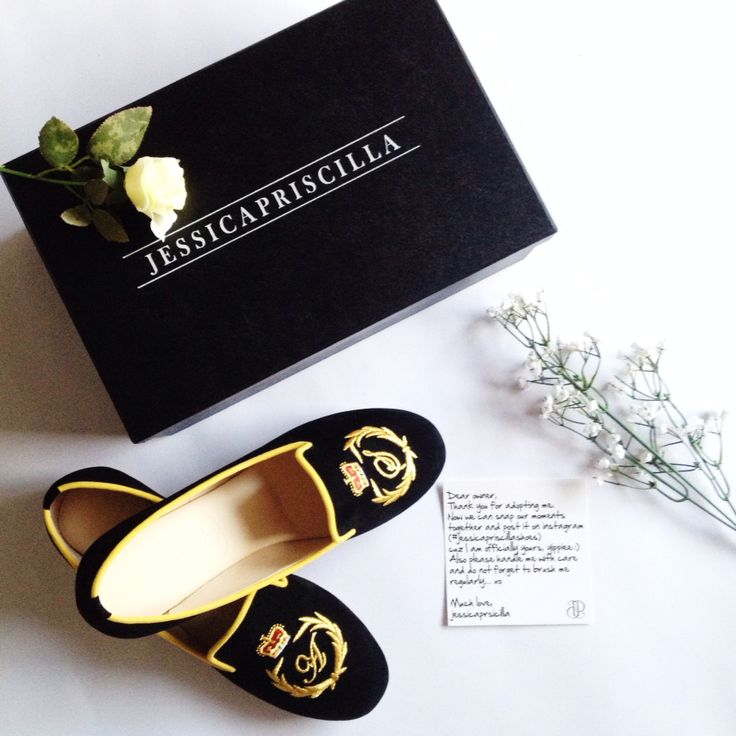 My birthday gift from my BFF.. Handmade initial shoes by @jessicapriscillashoes Follow my instagram account @agnes_siauw