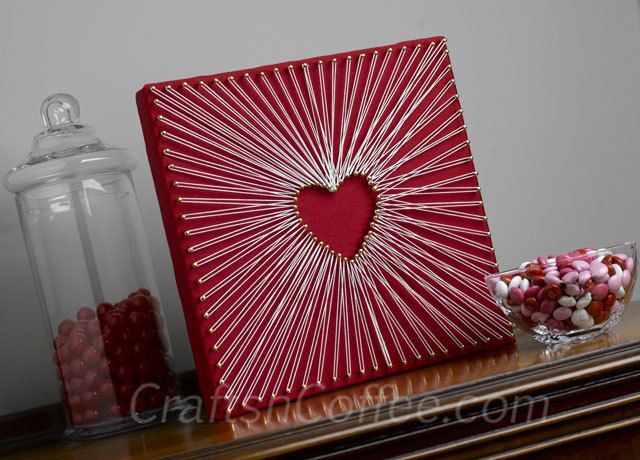 DIY String Art -- made without wood and a hammer. Beautiful! CraftsnCoffee.com
