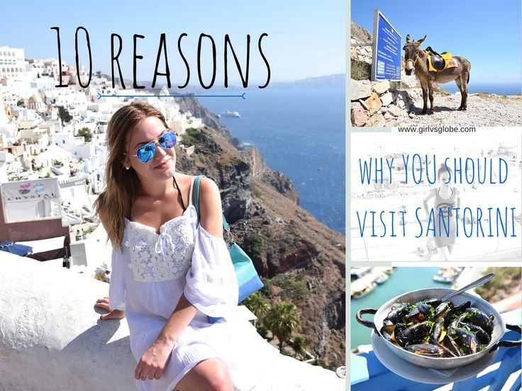 10 Reasons you should visit Santorini - #reasonstotravel #charminglywritten