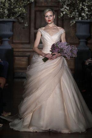 New Pink Wedding Dresses from Spring 2014. Pink wedding dress. pink wedding dresses. pink wedding gown.  Keywords: #pinkweddinggowns #jevelweddingplanning Follow Us: www.jevelweddingplanning.com  www.facebook.com/jevelweddingplanning/