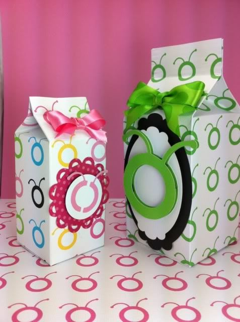 Milk Cartons with Cricut Paper
