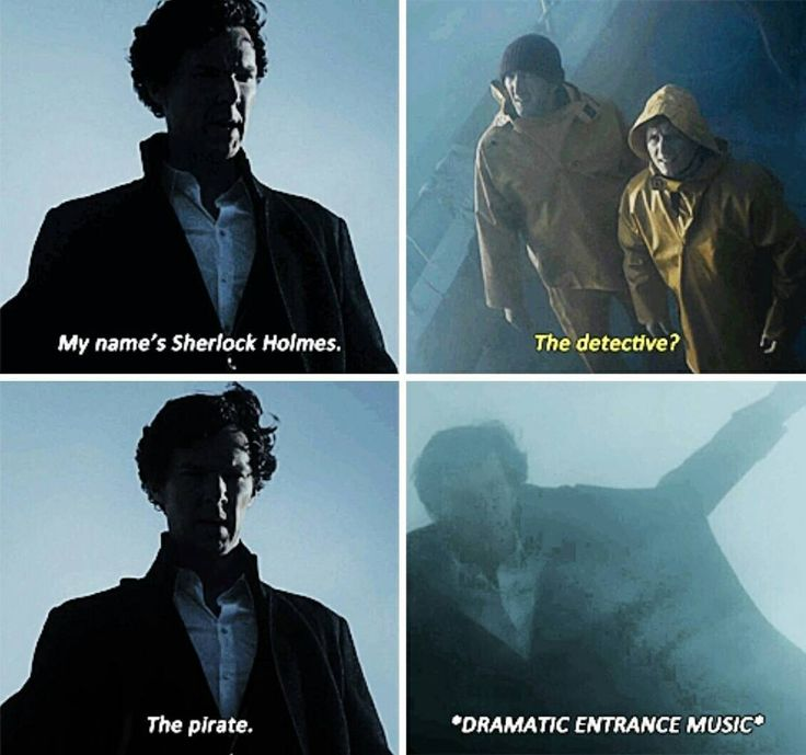 "When Sherlock finally got to be a pirate! Sherlock S04 EP03 ""The Final Problem"". Season 4. Episode 3."