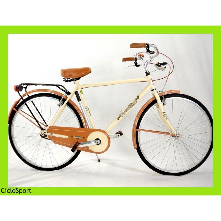 Bicicletta uomo Olanda ELEGANCE 28 CicloSport Lusso - Panna