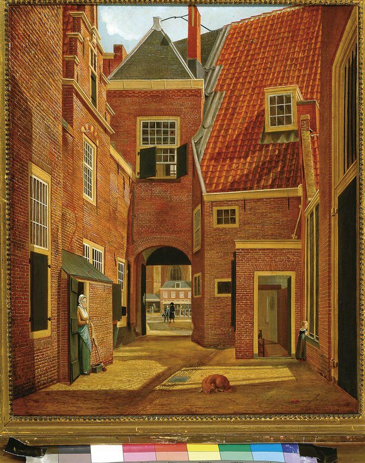 Wouterus de Nooy, Gezicht door de Pandpoort op de Grote Markt te Haarlem, 1813. (eigen collectie) #haarlem #art #painting