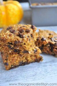 Pumpkin Blondies (Made Healthy) | The Organic Dietitian