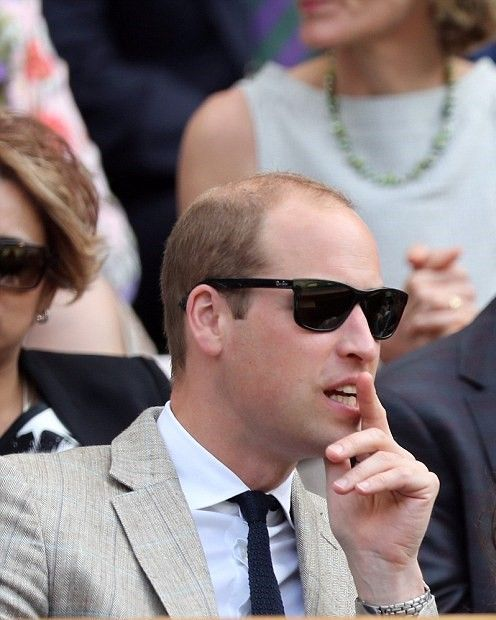 Prince William, Duke of Cambridge attend the Men's Final of the Wimbledon Tennis Championships between Milos Raonic and Andy Murray at Wimbledon on July 10, 2016 in London, England.