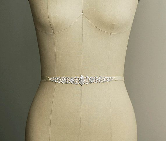 NEW! PARI - Sash / Belt      Material : crystal rhinestone, double sided satin ribbon    Size: rhinestones length 6 3/4 x 1 plus ribbon Sash /