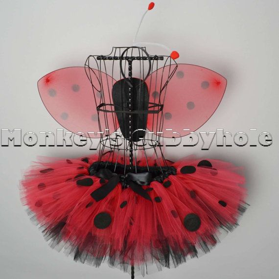 Fluffy Polka Dot Ladybug Tutu Costume Set