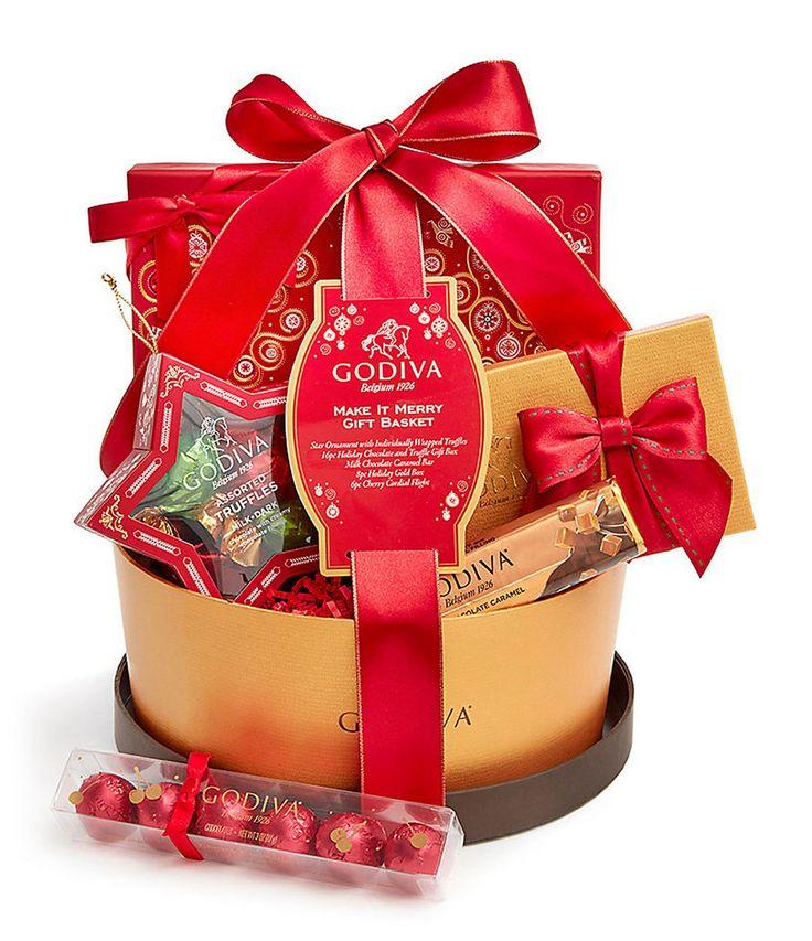 Godiva Chocolatier Make It Merry Christmas Gift Basket #Dillards