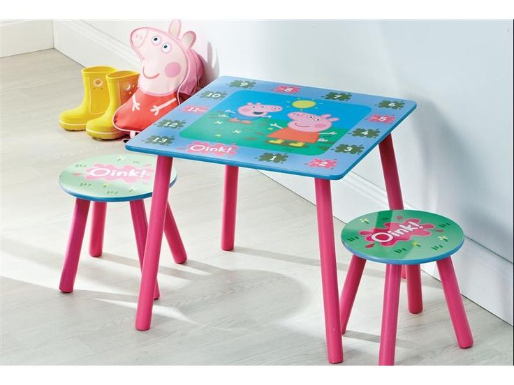 Peppa Pig Table And 2 Stools