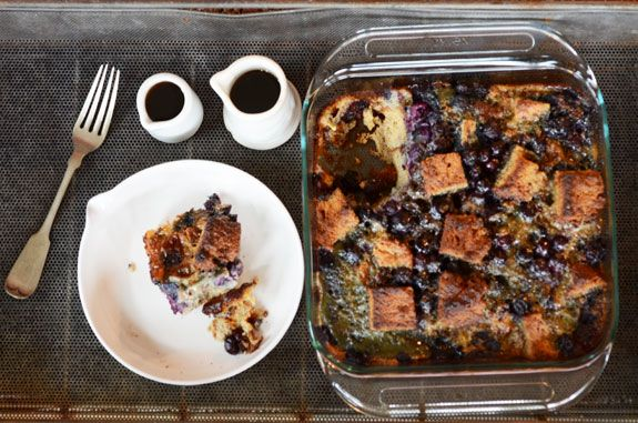 Gluten-free, Paleo Blueberry French Toast Casserole Recipe- full of heart-healthy ingredients and antioxidants- perfect for Mother's Day Brunch!