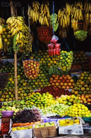 Kerala Fruit Stand , India | Corbis Images