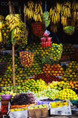 Kerala Fruit Stand , India   Corbis Images