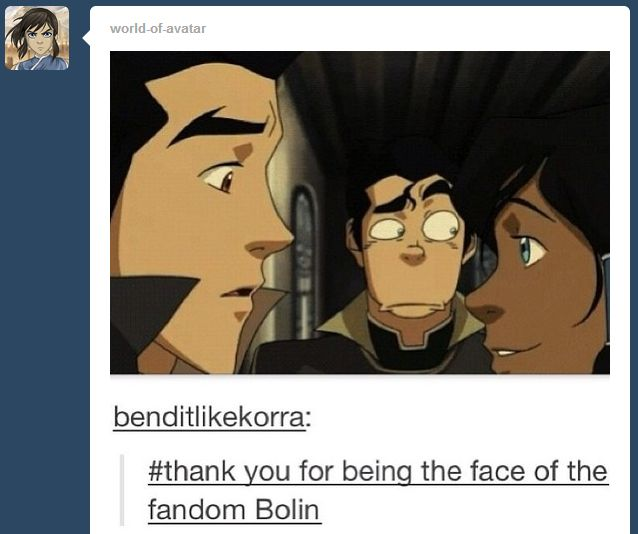 Request: Someone make gifs or photos of Mako's face when Korra kisses him since she forgot they broke up and thinks they are still together? Between him and Bolin's face I nearly died laughing!!!