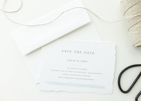 Seaside Save the Date Sample / Wedding Save by mariechangdesigns