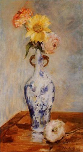 The Blue Vase - Berthe Morisot, 1888