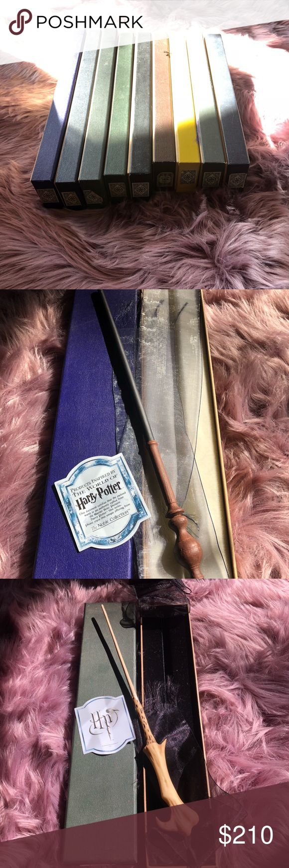 Warner Bros. Harry Potter wand collection $30/wand A) Voldemort's wand B) Harry Potter's wand C) Draco Malfoy's wand D) Ron Weasley's wand E) Professor Snape's wand F) Hermione Granger's wand G) Minerva Mcgonagall's wand Warner Brothers Other