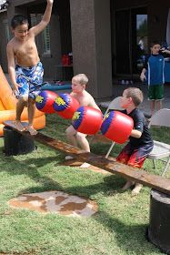 Wipeout Party obstacle course ideas