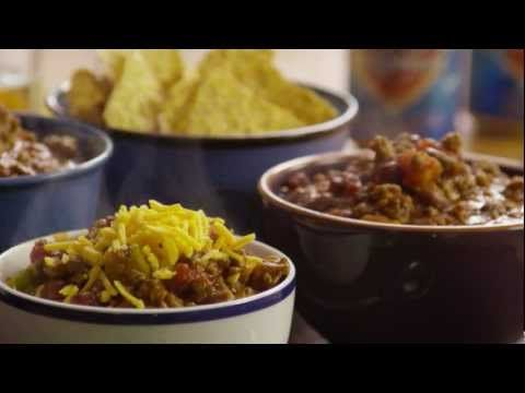 How to Make Boilermaker Tailgate Chili.  Chili is one of the absolute best tailgating foods!  Click for recipe.  #knife #knives #tailgating  www.hesslerworldwide.com