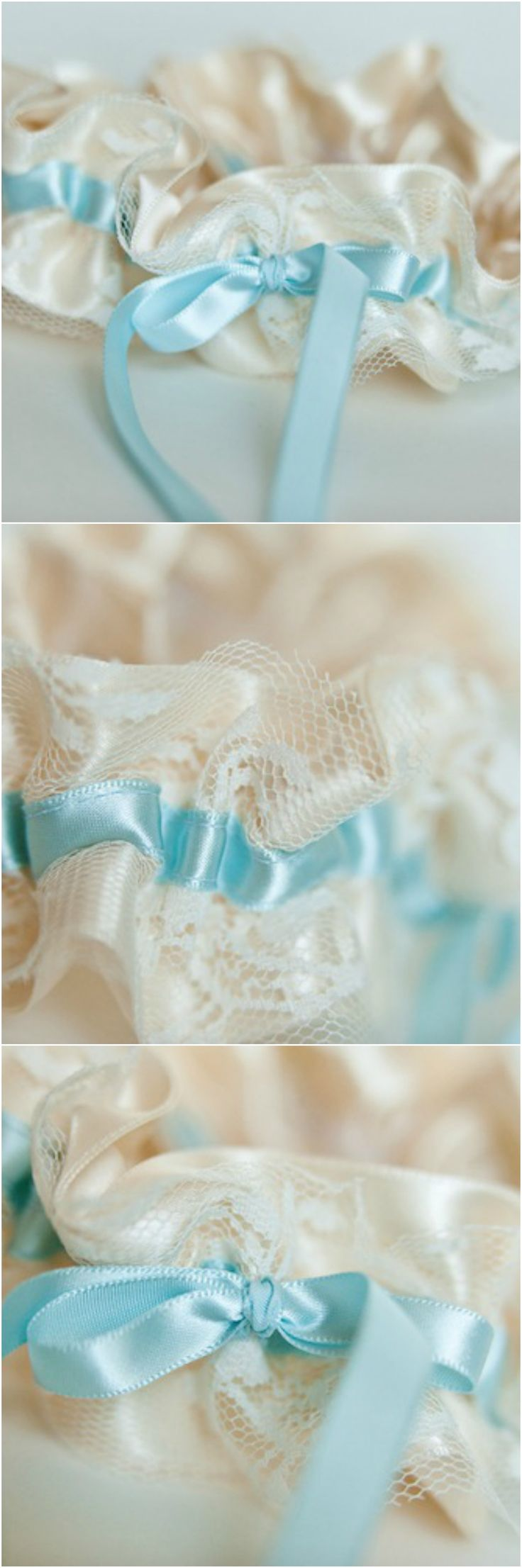 romantic and lace something blue wedding garter by The Garter Girl