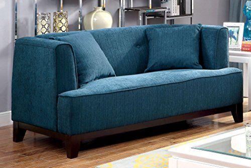 Mar 18, 2015 - Furniture of America Elsa Neo-Retro Love Seat, Teal Furniture of America http://www.amazon.com/dp/B00S0NEINY/ref=cm_sw_r_pi_dp_A9zcvb1GJQNW1