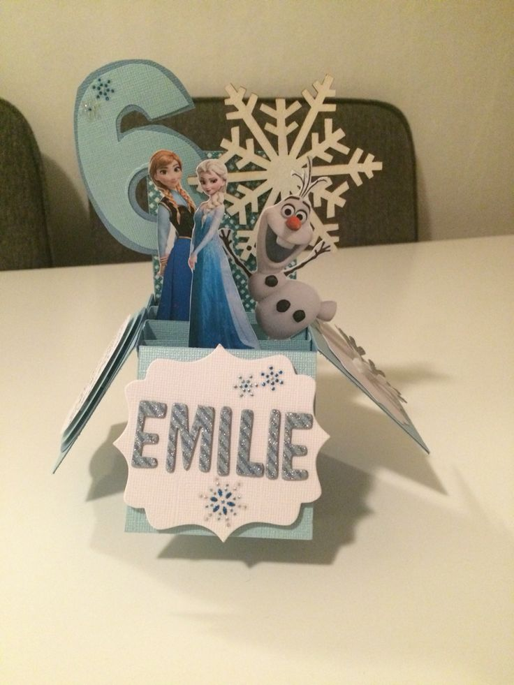 Frozen popup card. Happy Birthday