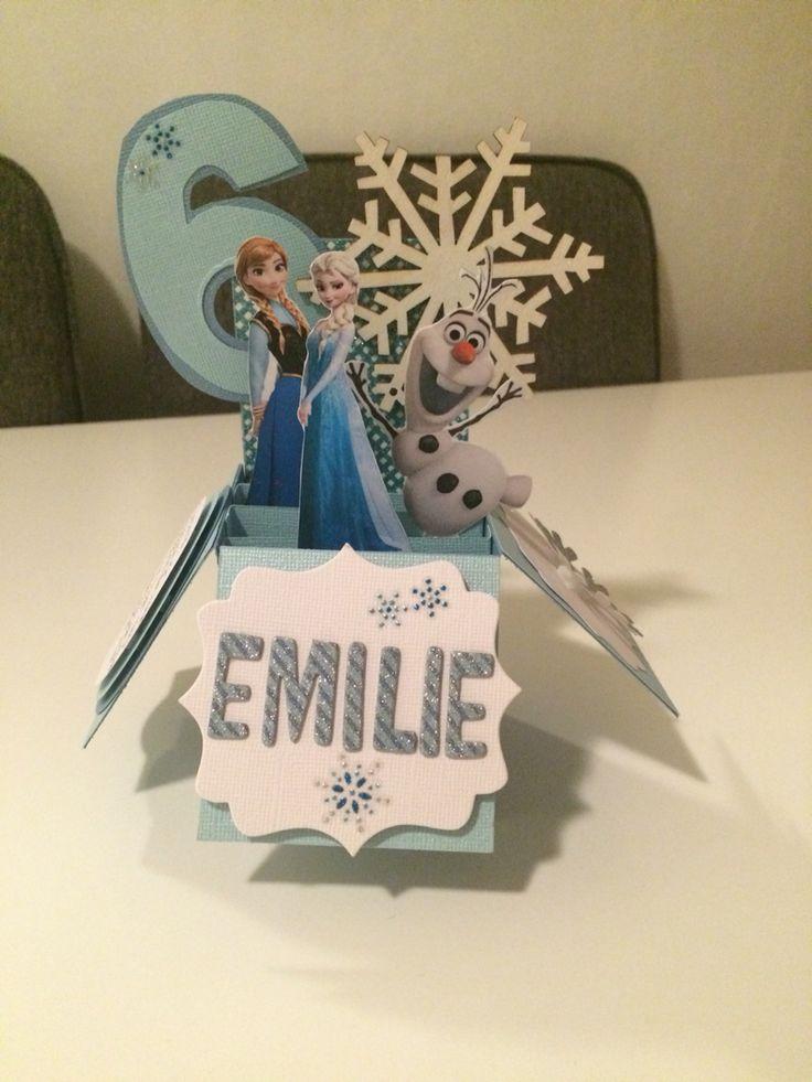 Frozen popup card. Happy Birthday