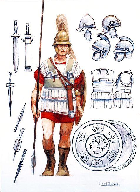 Macedonian/Selucid Phalangite, 4th-2nd cent. B.C. - illustration by Ugo Pinson