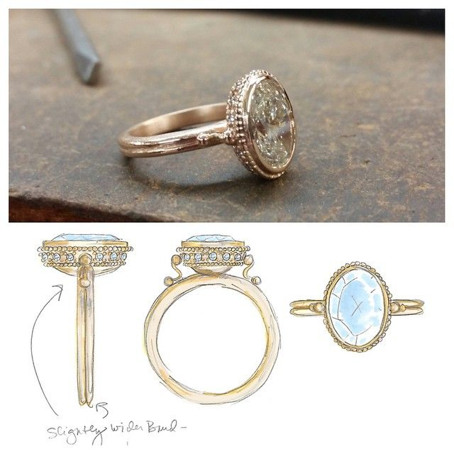 From an idea to reality. #custom Ione Ring in #18k #RoseGold
