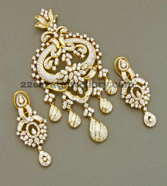 Uniquely Crafted Diamond Locket - Jewellery Designs