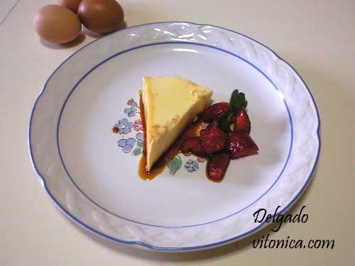 Flan de huevo, receta saludable integral. Ingredientes, instrucciones para la elaboración con fotografías e información nutricional del flan de ...