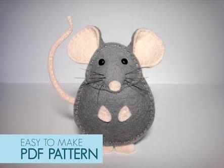 pattern for felt mouse - Google Search