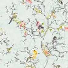Birdwatch Duck Egg Blue is a sophisticated floral. Floral's don't need to be in your face. This delicate print adds a soft veneer to any room. Available at Wall Candy Wallpaper for $99 per/roll or head online to www.wallcandywallpaper.com.au