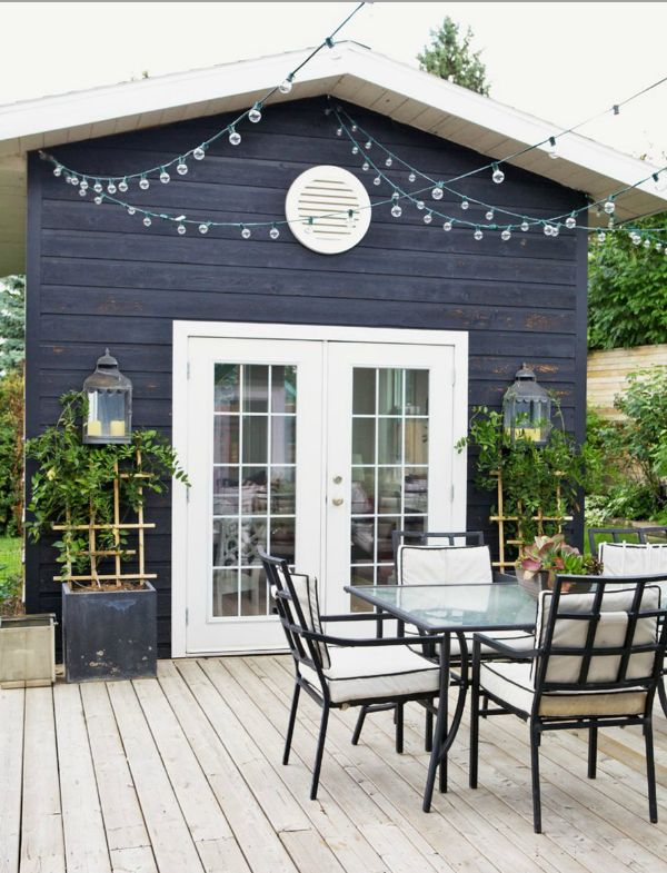 47 best garage images on pinterest carriage house for Sliding glass doors onto deck